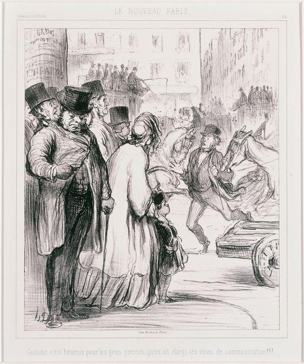 Honoré Daumier~Le Nouveau Paris Comm - Classical art