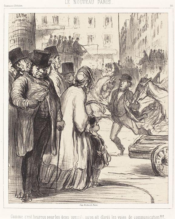 Honoré Daumier~Le Nouveau Paris - Classical art