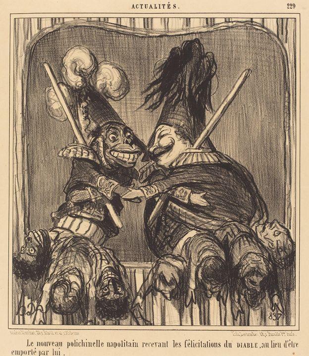 Honoré Daumier~Le Nouveau polichinel - Classical art