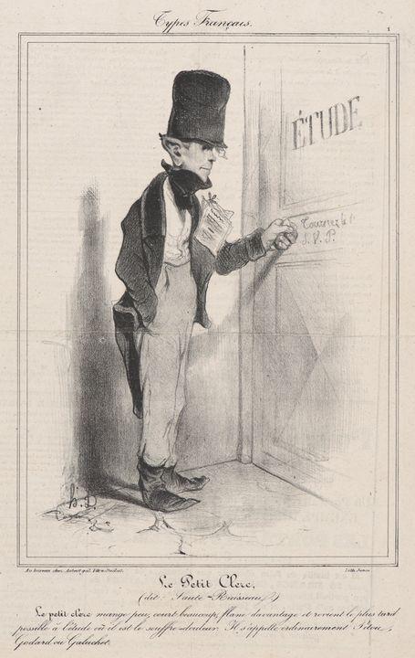 Honoré Daumier~Le Petit Clerc - Classical art