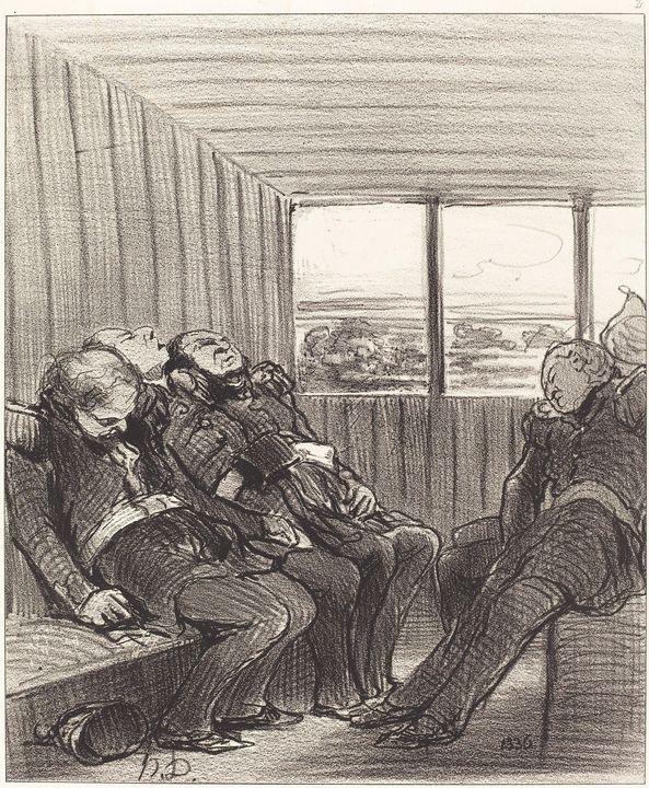 Honoré Daumier~Le Voyage en chemin d - Classical art