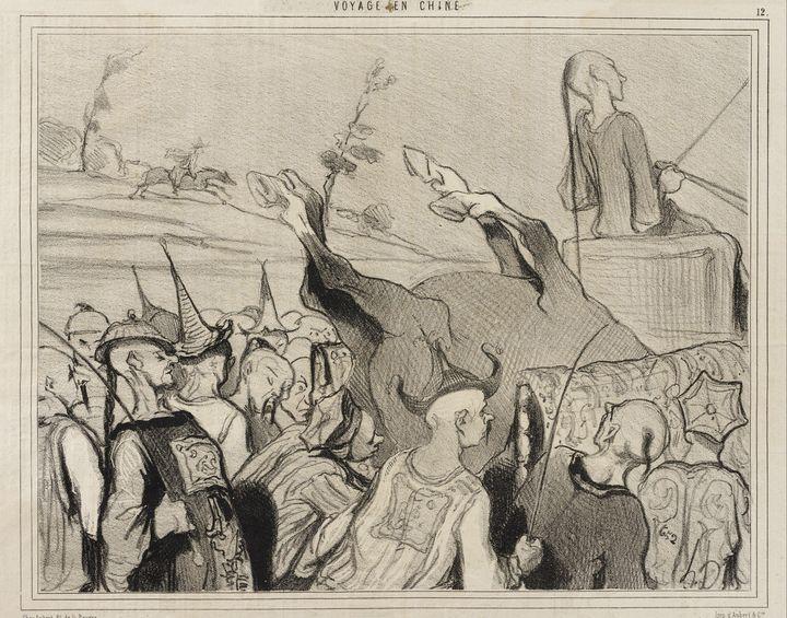 Honoré Daumier~Les Courses de chevau - Classical art