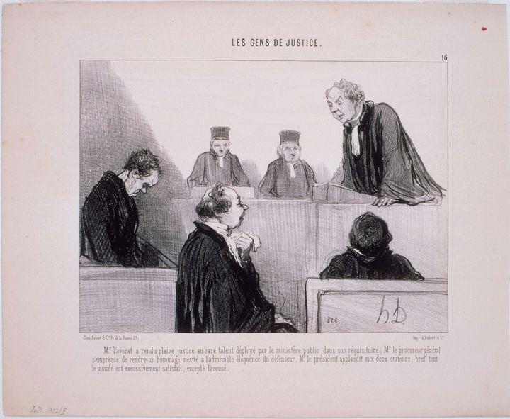 Honoré Daumier~Les Gens de Justice M - Classical art