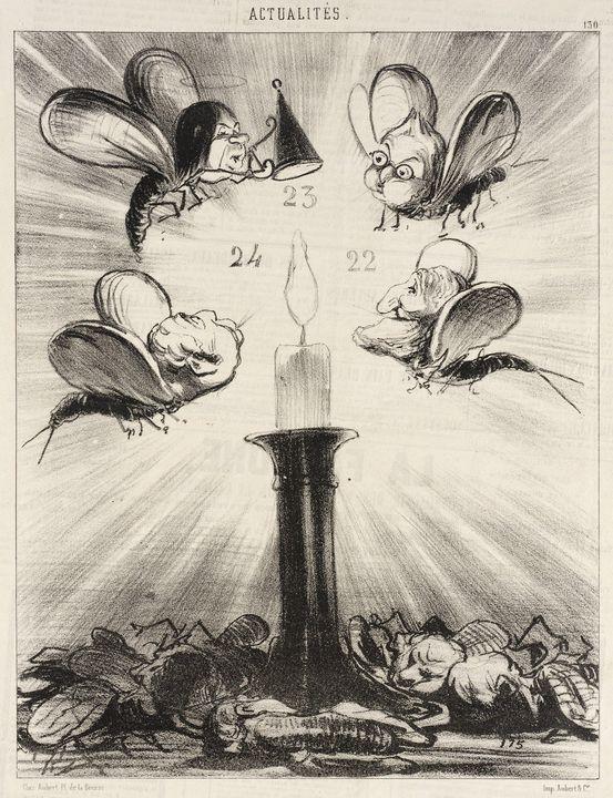 Honoré Daumier~Les Moucherons politi - Classical art