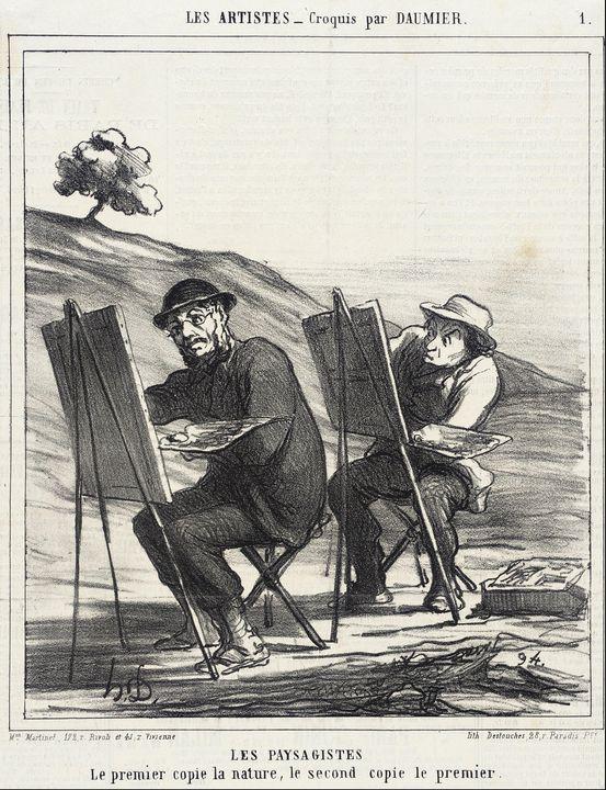 Honoré Daumier~Les Paysagistes. Le p - Classical art