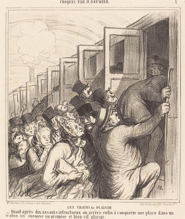 Honoré Daumier~Les Trains de plaisir - Classical art