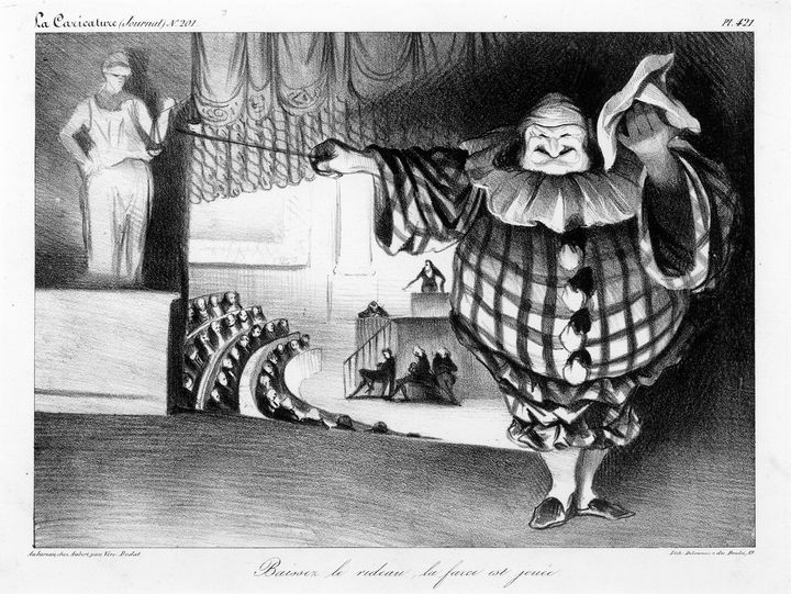Honoré Daumier~Lower the curtain, th - Classical art