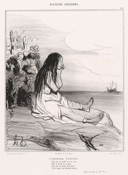 Honoré Daumier~L'Abandon d'Ariane - Classical art