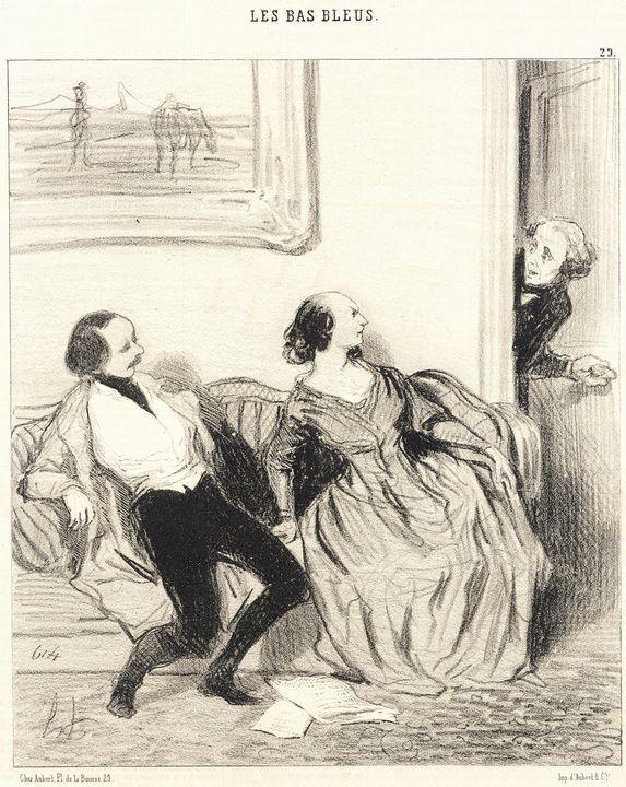 Honoré Daumier~Mon bonne amie, puis- - Classical art