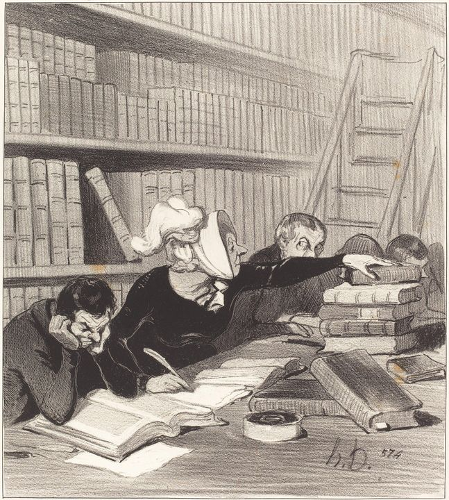 Honoré Daumier~Monsieur, pardon si j - Classical art