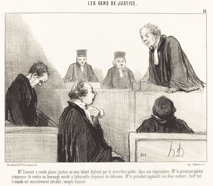 Honoré Daumier~Mr. l'avocat a rendu - Classical art
