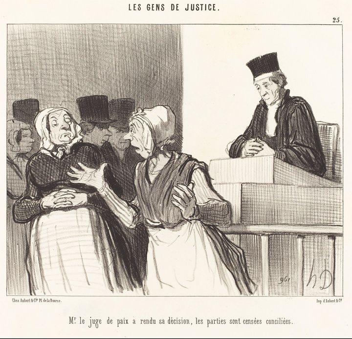 Honoré Daumier~Mr. le Juge de paix a - Classical art