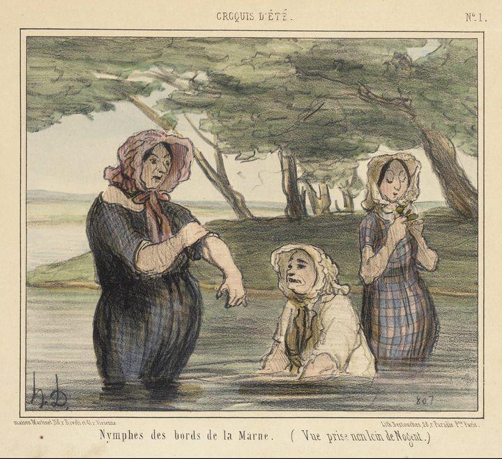 Honoré Daumier~Nymphes des bords de - Classical art