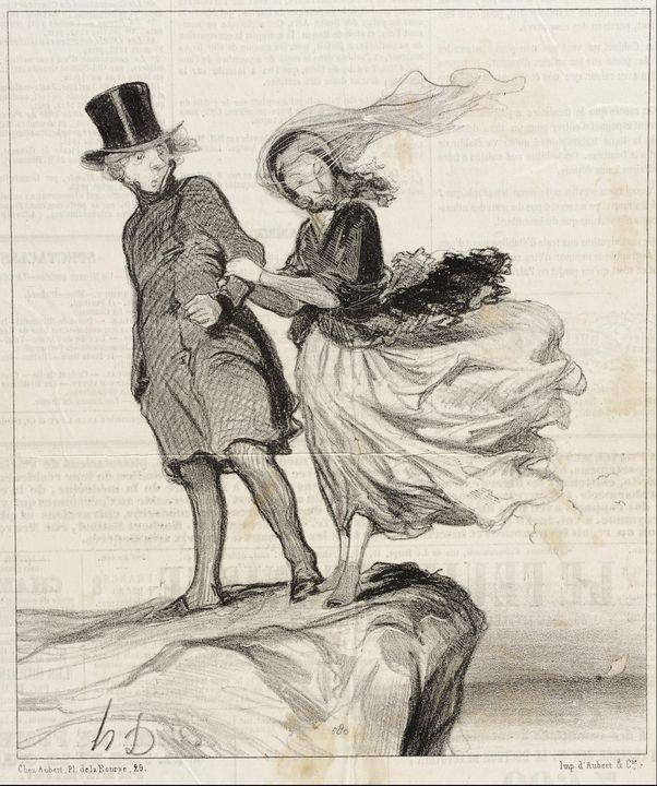 Honoré Daumier~O mon Victor idolatré - Classical art