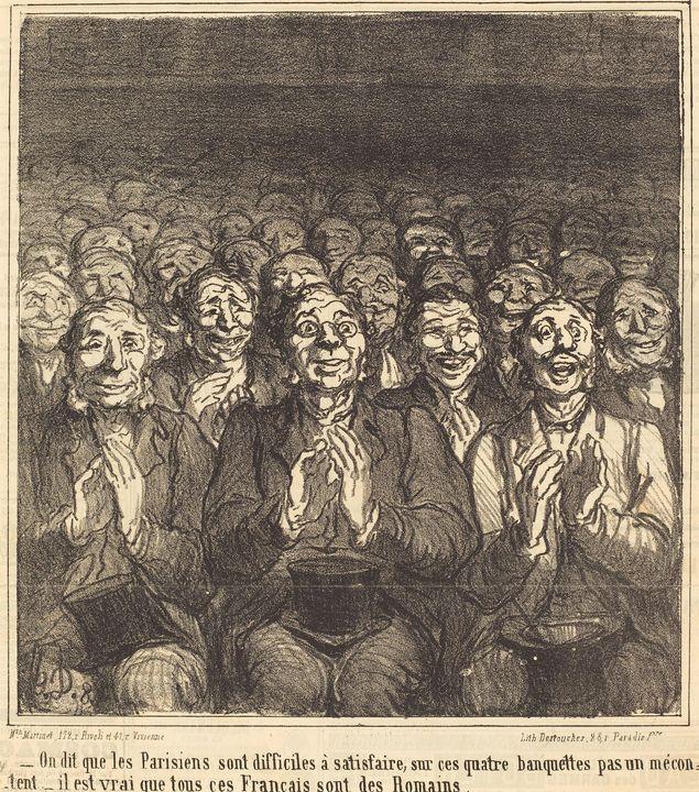Honoré Daumier~On dit que les Parisi - Classical art