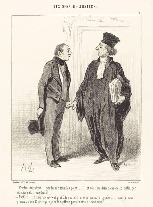 Honoré Daumier~Perdu, monsieur... pe - Classical art