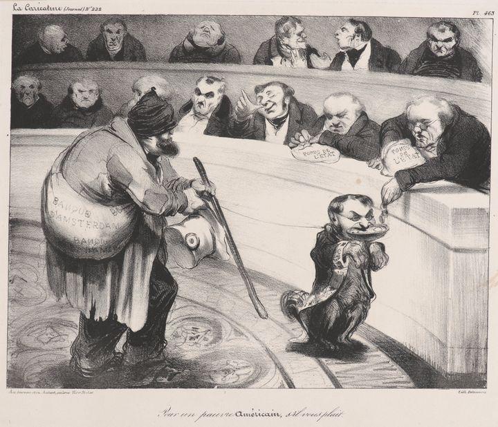 Honoré Daumier~Pour un pauvre Americ - Classical art