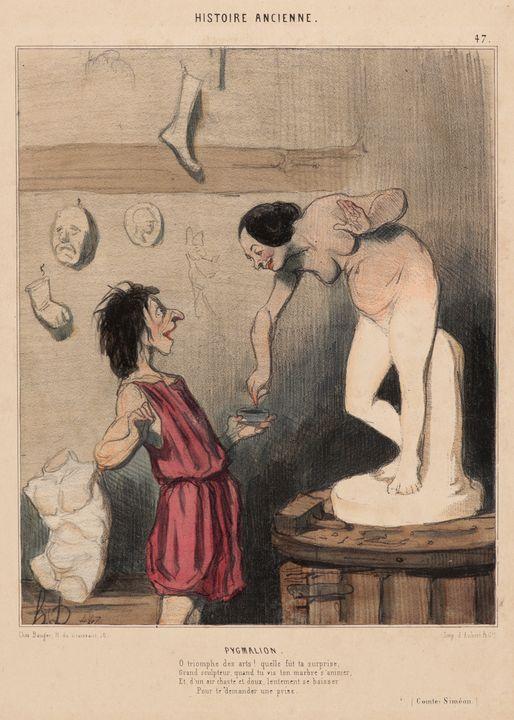 Honoré Daumier~Pygmalion - Classical art