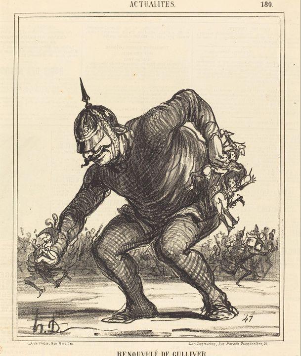 Honoré Daumier~Renouvele de Gulliver - Classical art