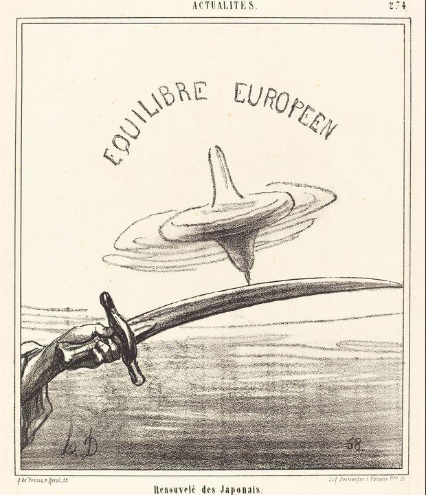 Honoré Daumier~Renouvelé des Japonai - Classical art