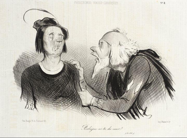 Honoré Daumier~Rodrigue as-tu du coe - Classical art