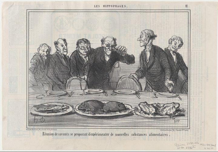 Honoré Daumier~Réunion de savants se - Classical art
