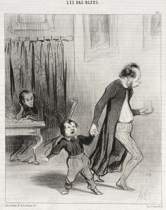 Honoré Daumier~Satané piallard d'enf - Classical art