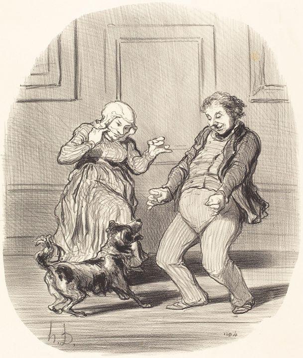 Honoré Daumier~Se réjouissant... de - Classical art