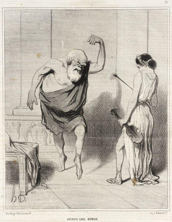 Honoré Daumier~Socrate chez Aspasie - Classical art