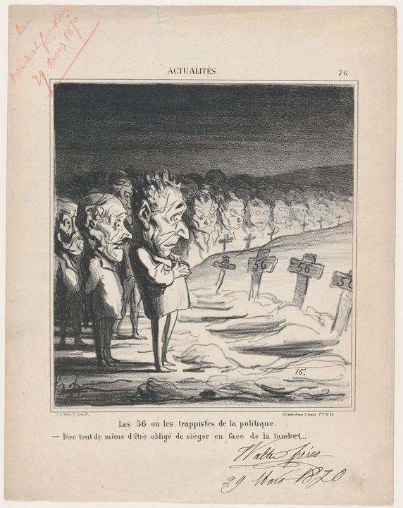 Honoré Daumier~The 56, or the trappi - Classical art