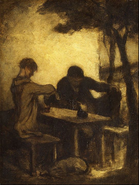 Honoré Daumier~The Drinkers - Classical art