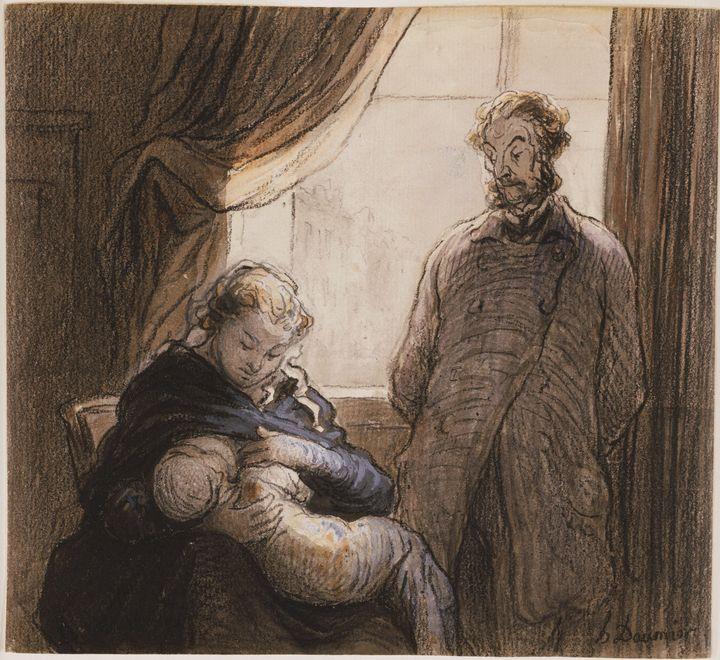 Honoré Daumier~The Family - Classical art