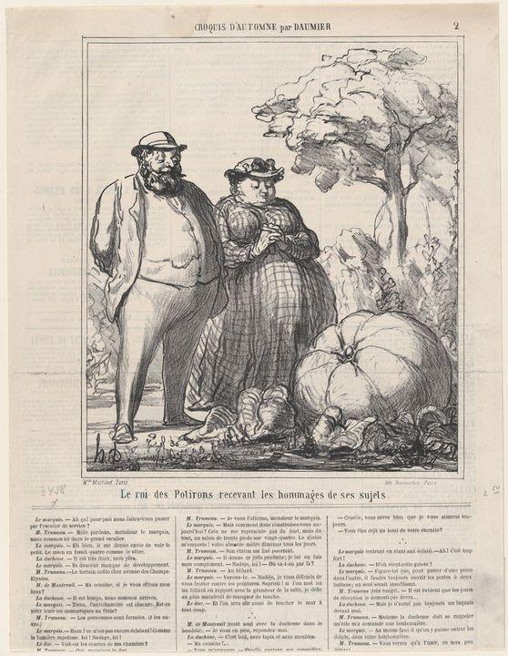 Honoré Daumier~The king of pumpkins - Classical art