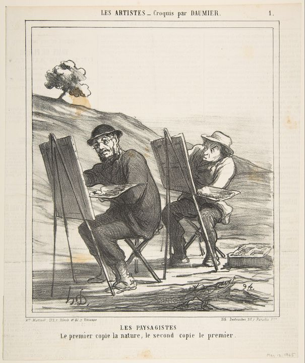 Honoré Daumier~The landscape painter - Classical art