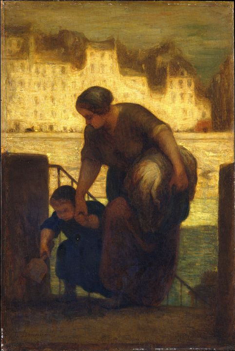 Honoré Daumier~The Laundress - Classical art