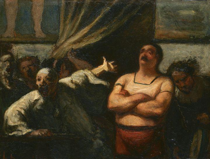 Honoré Daumier~The Strong Man - Classical art