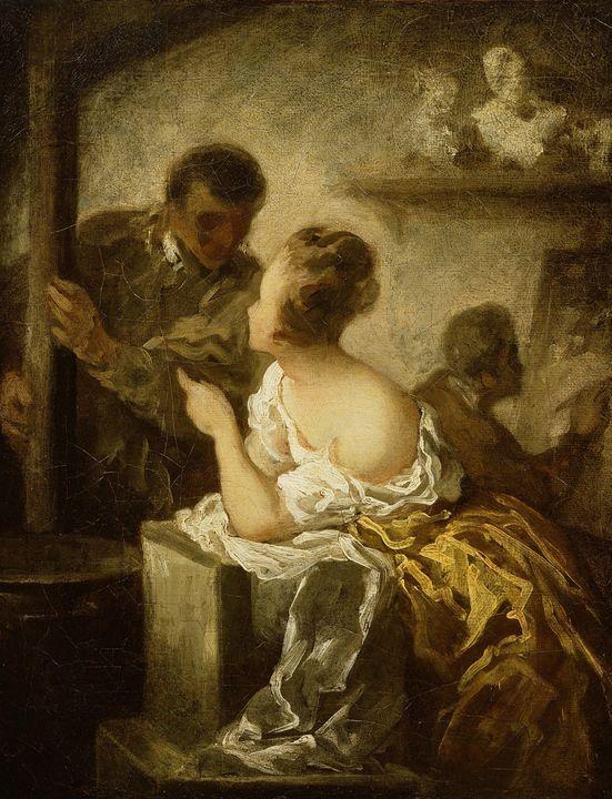 Honoré Daumier~The Studio - Classical art