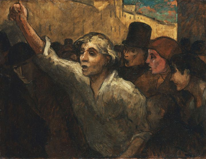 Honoré Daumier~The Uprising (L'Emeut - Classical art