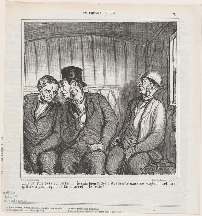 Honoré Daumier~They seem to be plann - Classical art