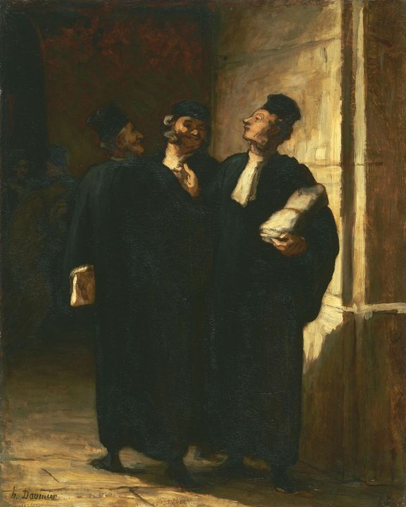 Honoré Daumier~Three Lawyers - Classical art