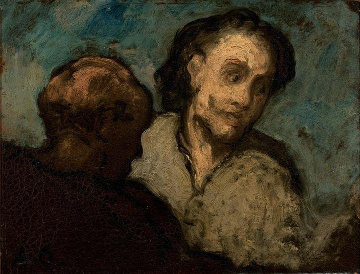Honoré Daumier~Two Heads - Classical art