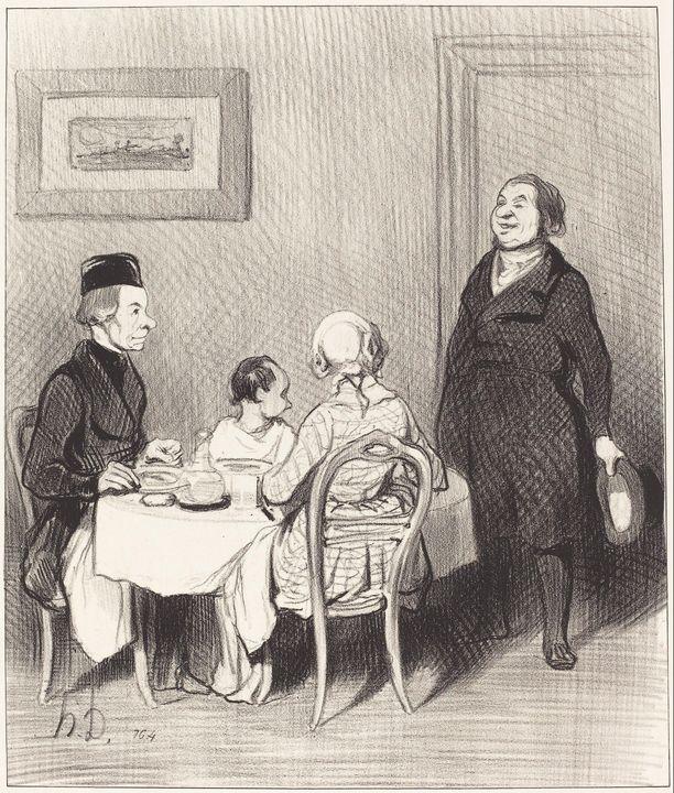 Honoré Daumier~Un Ami est un crocrod - Classical art