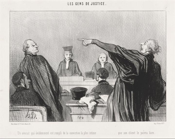 Honoré Daumier~Un Avocat qui est... - Classical art