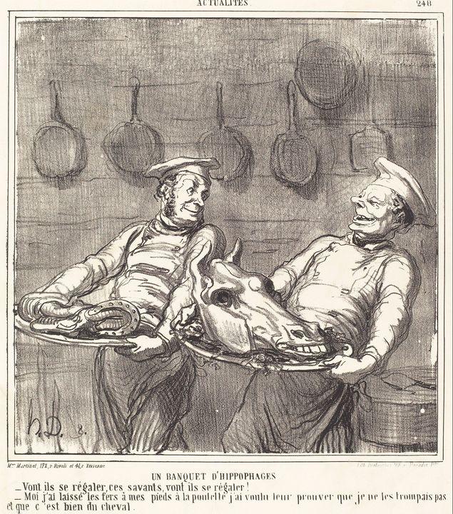 Honoré Daumier~Un Banquet d'hippopha - Classical art