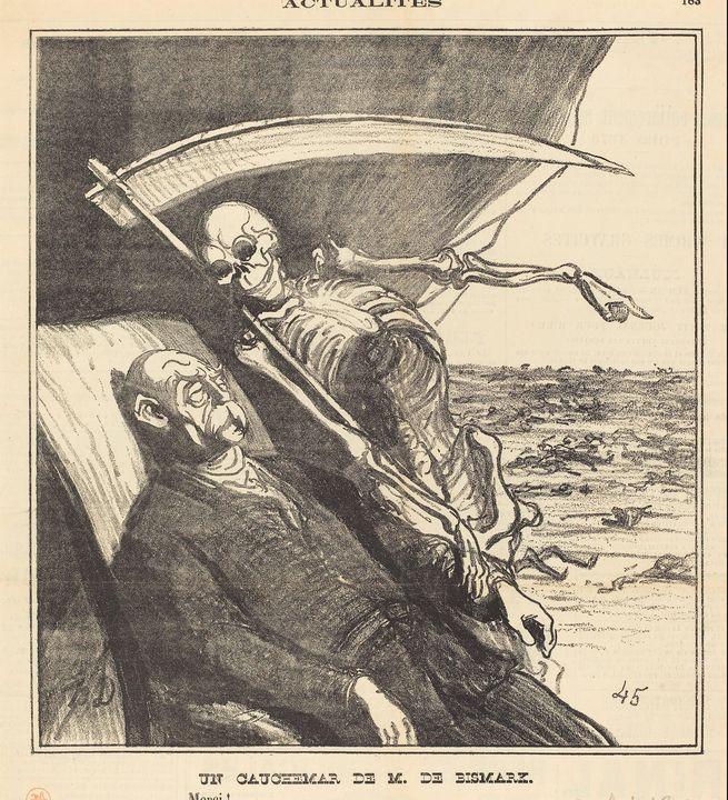 Honoré Daumier~Un cauchemar de M. Bi - Classical art
