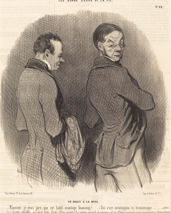 Honoré Daumier~Un Habit a la mode - Classical art