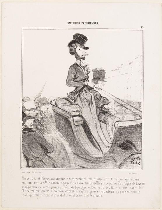 Honoré Daumier~Un soi disant Négocia - Classical art