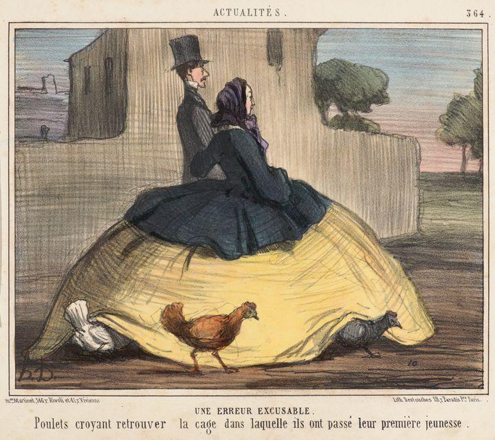 Honoré Daumier~Une Erreur Excusable - Classical art