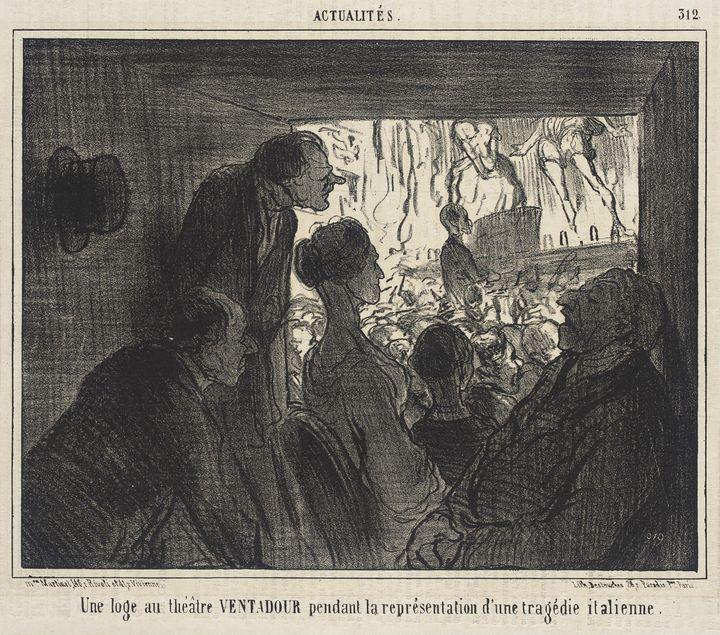 Honoré Daumier~Une Loge au théâtre V - Classical art
