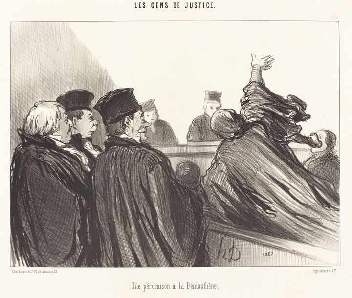 Honoré Daumier~Une Péroraison a la D - Classical art